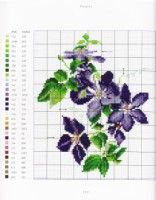"""ru / mtecuka - Альбом """"Thea Gouverneur Flower portraits in Cross Stitch"""" Cross Stitch Flowers, Cross Stitch Patterns, Clematis, Projects To Try, Gallery, Zoom Zoom, Crossstitch, Portraits, Watch"""