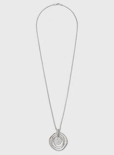 Silver Organic Circle Necklace