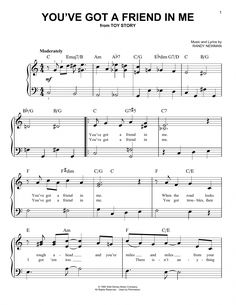 Music You've Got A Friend In Me (from Toy Story) Easy Piano by Randy Newman Disney Sheet Music, Piano Sheet Music Letters, Saxophone Sheet Music, Sheet Music Art, Sheet Music Notes, Violin Music, Digital Sheet Music, Music Sheets, Office Theme Song Piano