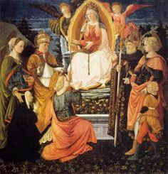 Madonna della Cintola - Fra Filippo Lippi.  1455-65.  Tempera on wood.  191 x 187 cm.  Museo Civico, Prato, Italy.