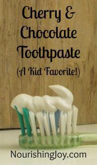 How to make Cherry Chocolate Toothpaste from NourishingJoy.com Very Interesting