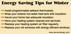 Winter Energy Saving Tips Infographic -www.leovandesign.com