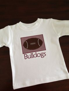 MSU bulldogs football applique tshirt by theblueeyedbirdie on Etsy