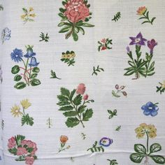 Meadow cotton barkcloth