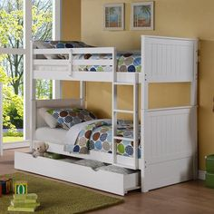 Twin/Twin Bunk Bed with Storage
