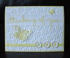 Stampin Up Handmade All Occasion 5 card kit - with Sample, Flower with embossing
