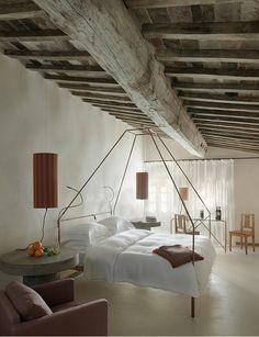 Monteverdi Tuscany • Boutique hotel • // Light ambience, rustic & modern fittings #InteriorDesign #Bedroom
