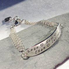 Mother's Grandmother's sterling silver bracelet by DesignsbyCaz, £45.00