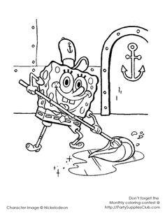 Sponge Bob at the Crusty Crab