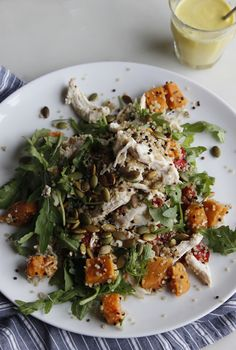 Autumn Chicken & Squash salad with Orange Dressing (Natural Born Feeder) Natural Born Feeder, Chicken Squash, Come Dine With Me, Squash Salad, Orange Salad, Savoury Dishes, A Food, Dairy Free, Salads