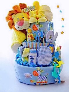Everyone Can Make! 35+ DIY Baby Shower Gift Basket Ideas Baby Shower Gifts For Boys, Unique Baby Shower Gifts, Baby Boy Shower, Baby Gifts, Diaper Cakes, Diaper Cake Basket, Baby Showers, Baby Shower Parties, Baby Shower Themes