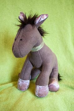 Plush Microfleece Brown and Pink Horse by EstherMouse on Etsy, £30.00