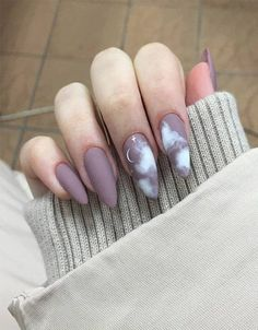 Cute Acrylic Nail Designs, Best Acrylic Nails, Matte Nails, Nail Art Designs, Nagellack Design, Nagellack Trends, Pink Gel, Different Nail Shapes, Cute Spring Nails