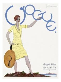 Vintage Vogue Covers, Georges Lepape, May 1, 1927 #VintageVogueCoversKisyovaLazarinova