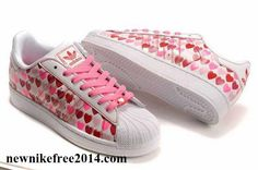 ddc0bacad7a You Will be fashion with our Adidas Women Originals Superstar 2 Hearts  Print Casual Pink White - All Adidas Shoes For Sale Now