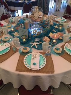 Quinceanera Party Planning – 5 Secrets For Having The Best Mexican Birthday Party Beach Wedding Centerpieces, Beach Wedding Reception, Beach Wedding Favors, Wedding Reception Decorations, Wedding Table, Wedding Ideas, Beach Table Decorations, Beach Themed Weddings, Sea Wedding Theme