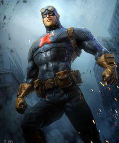 Inspiration | Digital Illustration Of Captain America By Jeff Miller