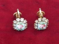 Beautiful Vintage Guilloche Earrings~ free shipping  Amazing!