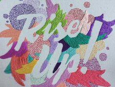 Bordados tipográficos - Valeria Molinari