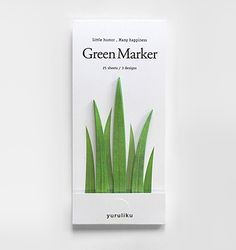 Green Marker is a set of grass-shaped page markers for the environment-loving bookworm. These award-winning page markers have drawn praise from bloggers all ove