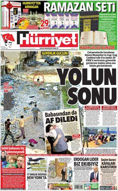 #20160526 #TürkiyeHABER #TURKEY #TurkeyTodayNEWSpapers20160526 Thursday MAY 26 2016 http://en.kiosko.net/tr/2016-05-26/ + http://www.trthaber.com/foto-galeri/gazete-mansetleri-26-mayis-2016/10576/sayfa-10.html <+> #Hürriyet20160526  http://en.kiosko.net/tr/2016-05-26/np/hurriyet.html