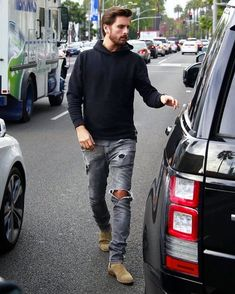 @letthelordbewithyou [ http://ift.tt/1f8LY65 ] menstyle destroyedenim suede ankle boots beard Streetstyle