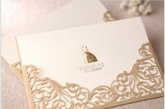 Champagne Color :)     Customizable Luxury Wedding Invitation Cards (sample)