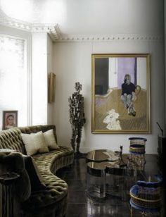 Sitting area by Jacques Grange