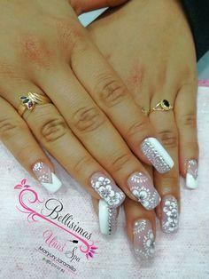 50 Top Best Wedding Nail Art Designs To Get Inspired Fabulous Nails, Perfect Nails, Bridal Nails, Wedding Nails, Simple Nail Designs, Nail Art Designs, Fingernail Polish Designs, The Art Of Nails, Lace Nails