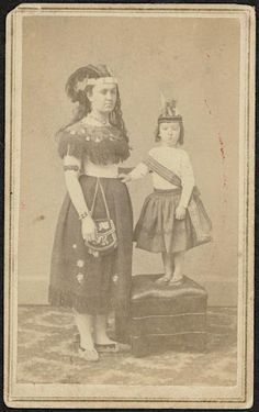 Iroquois woman and child - circa 1870