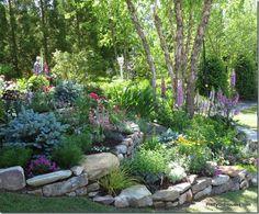 terraced flower beds