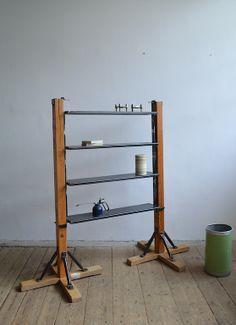Bookshelf from gymnastic column (artKRAFT Industrial design) Ladder Bookcase, Bookshelves, Industrial Design, Gymnastics, Cabinets, Storage, Home Decor, Fitness, Armoires