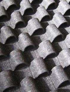 Fabric Manipulation felt curls texture by Anne Kyyro Quinn