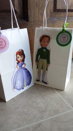 Sofia The First  Prince James Favor Bags by JennexPartySupply on Etsy https://www.etsy.com/listing/201139302/sofia-the-first-prince-james-favor-bags