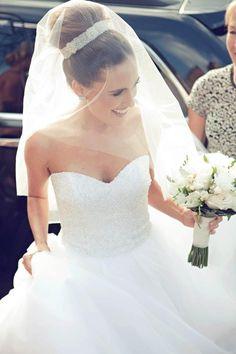 top knot bun for brides
