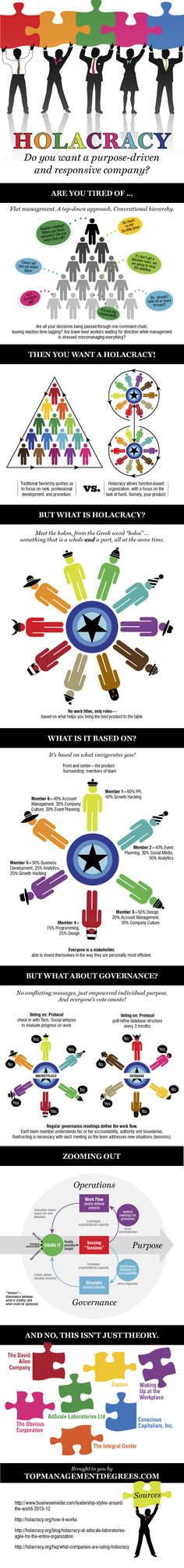 Holacracy: Do You Want a Purpose Driven and Responsive Company? [Infographic]