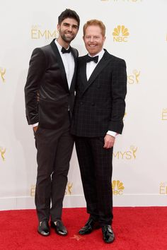 Jesse Tyler Ferguson and Justin Mikita arrive the Emmys