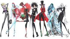 Tim Burton Movie-Inspired Fashion Art Series — GeekTyrant