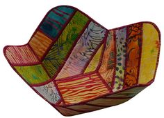 Reversible Fabric Bowl in Multicolored Batik Fabrics by Sieberdesigns on Etsy Making Baskets, Fabric Bowls, Basket Decoration, Cotton Thread, Etsy Handmade, Textile Art, Crochet Hooks, Mother Day Gifts, Gifts For Her