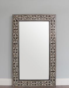 Hand Crafted Bone Inlay Moroccan Mirror
