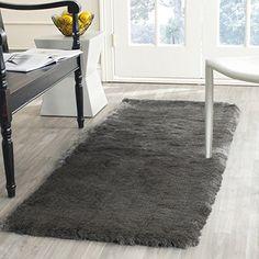 Amazon.com: Safavieh Paris Shag Collection SG511-8383 Titanium Polyester Square Area Rug (5' Square): Kitchen & Dining
