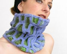 neck warmer turtle neck tube scarf knit honeycomb by piabarile, $43.00