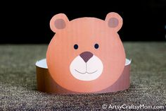 """Create your own Bear Paper Crown. Print, cut & glue. Printable PDF in full color. • A .pdf file available for instant download. • This listing is for a digital file. You may print as many as you wish at home. Print file at """"Fit to Page"""" size. Adobe Reader is needed to open this file. Download for free at http://get.adobe.com/reader. Permission to use this design is granted to the buyer for personal use only. Commercial use, file sharing, & reselling the design..."""