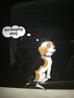 Beagle car sticker