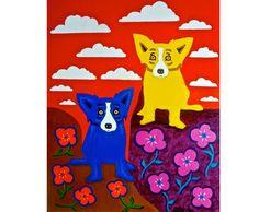A Blue Dog Spring - 2012 - George Rodrigue Studios