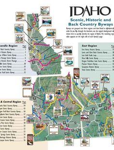 Idaho: Scenic, Historic and back country byways. Pocatello Idaho, Las Vegas, Us Road Trip, Coeur D'alene, Parcs, Rv Travel, Vacation Spots, Vacation Destinations, Vacation Ideas
