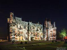 Noël Alice au Pays des Merveilles novembre 2017   lumière sur le château de Trévarez  - à Saint-Goazec  © Paul Kerrien 2017 https://en-photo.fr
