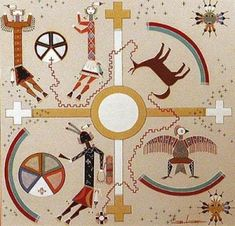 Navajo Creation Story in Sand Painting Native American Symbols, Native American History, Native American Indians, Sand Painting, Sand Art, Navajo Art, Navajo Style, Navajo Rugs, Navajo People