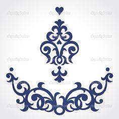 Векторный набор с украшениями в стиле барокко в викторианском стиле - Стоковая иллюстрация: 44772895