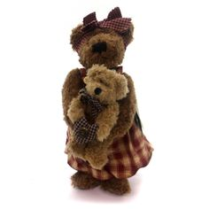 Boyds Bears Plush Momma Mcbear & Delmar Teddy Bear